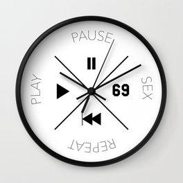 Play, Pause, Sex, Repeat Wall Clock