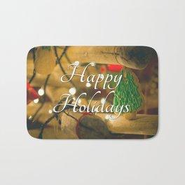 Happy Holidays  #1 - Festive holiday Bath Mat
