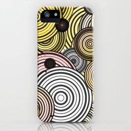 Layered circles iPhone Case