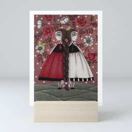 Snow-White and Rose-Red (1) Mini Art Print