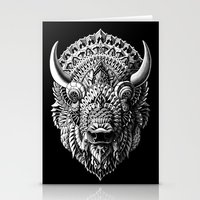 bison Stationery Cards featuring Bison by BIOWORKZ
