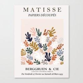 Henri matisse the cut outs contemporary, modern minimal art wintery wall art  Canvas Print