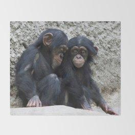 Chimpanzee 002 Throw Blanket