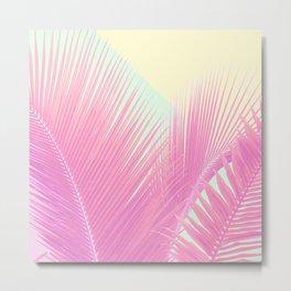 Pastel Blush Palm Metal Print