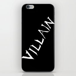 Villain in Black iPhone Skin