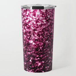 Beautiful Dark Pink glitter sparkles Travel Mug