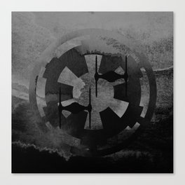 Star Wars Imperial Tie Fighters in Gray Canvas Print