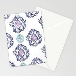 doodle ikat Stationery Cards