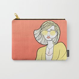 Yellow Shades Coral Sky Carry-All Pouch