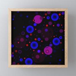 Circle Blue Purple and Red Framed Mini Art Print