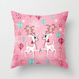 Cute Christmas Reindeer Throw Pillow