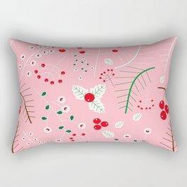 mistletoe Pink Rectangular Pillow