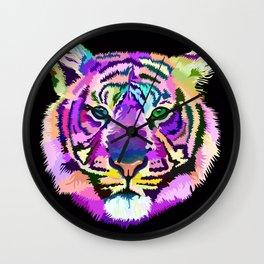 popart tiger Wall Clock