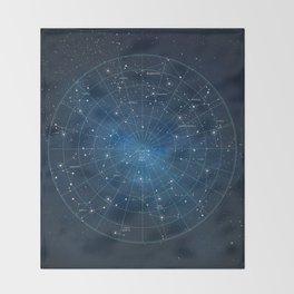 Constellation Star Map Throw Blanket