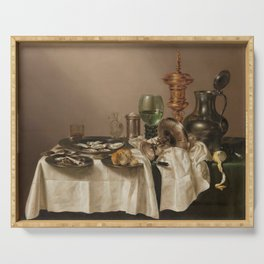 Still life with gilded goblet - Willem Claesz. Heda (1635) Serving Tray