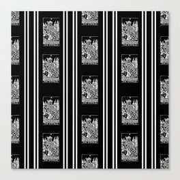 Black and White Repeating Striped Pattern - The Empress Canvas Print