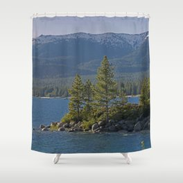 Trees +Tahoe IV Shower Curtain