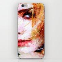 emma watson iPhone & iPod Skins featuring Emma Watson by Raditya Giga