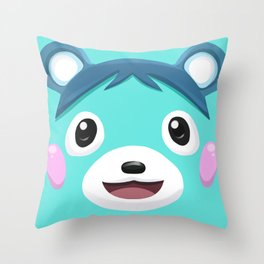 Animal Crossing Bluebear the Cub Throw Pillow