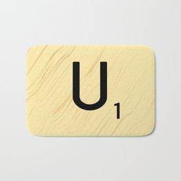 Scrabble U Initial - Large Scrabble Tile Letter Bath Mat