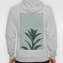 Teal Mint Plant Hoody