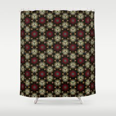 Metallic Deco Little Leaves Shower Curtain