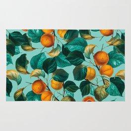 Peach and Leaf Pattern Rug