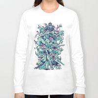 ninja turtles Long Sleeve T-shirts featuring Teenage Zombie Ninja Turtles by Charlie Layton