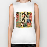 matisse Biker Tanks featuring Inspired to Matisse vintage t-shirt by Chicca Besso