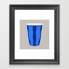 CLARITY CUP BLUE (BIG) Framed Art Print