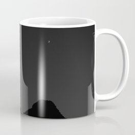 Mountain Range with Crescent Moon Coffee Mug