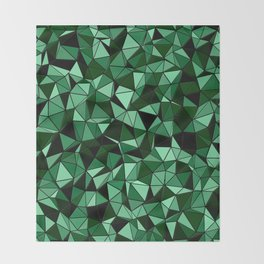 Emerald Lo Poly Throw Blanket
