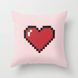 Pixel Hearts Throw Pillow