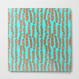 Bacon lovers pattern Metal Print
