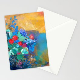Odilon Redon - Ophelia in the flower - Digital Remastered Edition Stationery Cards