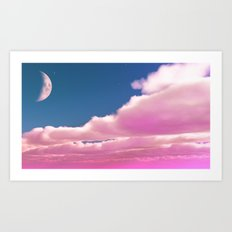 And The Moon Speaks Art Print
