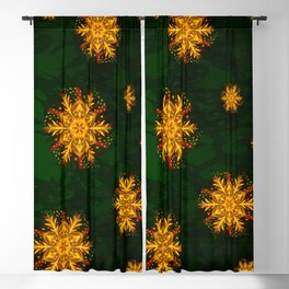 Forest Fire Flake Blackout Curtain