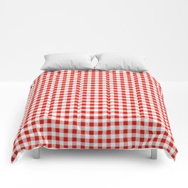 Christmas gingham pattern red and green cute gifts home decor for the holidays Comforters