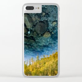 Upside-down World Clear iPhone Case