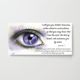Galaxy eye - Isaiah 45, 3 Metal Print