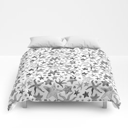 Grey Starfish Pattern - Dark Comforters