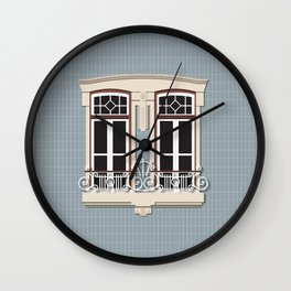 Porto Window_03 Wall Clock