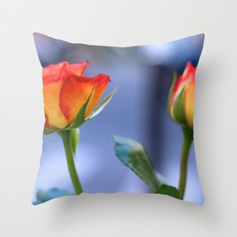 """Love planted a rose and the world turned sweet"" Throw Pillow"