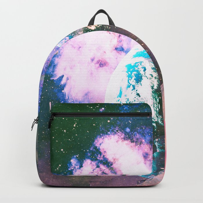 Space Earth Watercolor Backpack