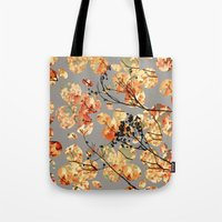 quilt Tote Bags featuring Dogwood Quilt by Olivia Joy StClaire