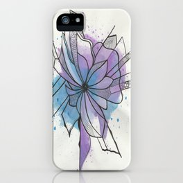 Explosion Flower Blue and Purple iPhone Case