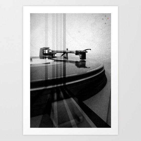 Turntable Retro Art Print