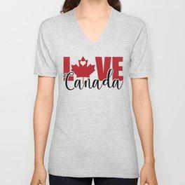 Love Canada Canadian Christmas Gift Unisex V-Neck