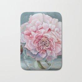Peony Memories Flower Painting Bath Mat