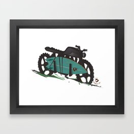 The Bike Framed Art Print